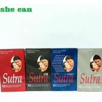 Kondom Condom SUTRA Merah / Plus / HITAM OK / Gerigi Biru isi isi 12