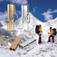 Gantungan kunci Pluit Aluminium Peluit Survival Outdoor Siul Keras TOP