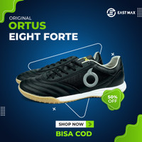 Sepatu Futsal Ortuseight Forte Savage IN - Black/Silver