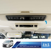 JSL List Atap Panel All New Alphard Ceiling Control Panel Cover Carbon