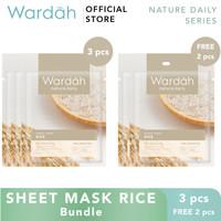 Wardah Sheet Mask Rice Bundle 3+2