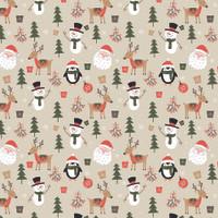 Kertas Kado Natal Harvest / Wrapping Paper Xmas Joyland Penguin