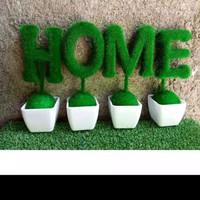 Vas bunga love dan home/ pajangan rak/ bunga palsu/ bunga artificial