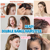 double bangs hairstyle hairpin bando korea jepit double layer