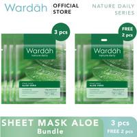 Wardah Sheet Mask Aloe Bundle 3+2