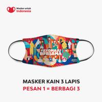 Masker Kain 3 Ply Earloop - Desain oleh Home Credit