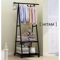 Stand Hanger Triangle Rak Segitiga Gantungan Baju Buku Serbaguna