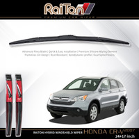 "Raiton Wiper Hybrid Sepasang Kaca Depan Mobil Honda CR-V 24"" & 17"""