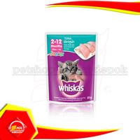 Whiskas Pouch Junior Tuna 85 gr Makanan Kucing cat Wet Food Sachet 85g - TUNA