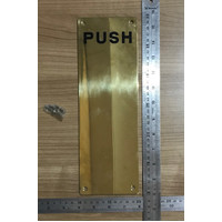 SIGN PLATE DEKKSON SP 002A PUSH PVD Plat Dorongan Pintu Push Gold