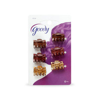 Goody classic 05130 claw clip, mini bow tie 6ct hair clip jepit rambut