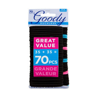 Goody ouchless 16720 braided elastics value pack 70ct black 35+35