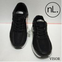 Sepatu Olahraga Running Sneaker Merek Eagle Warna Hitam Size 38