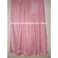 Mukena Rayon Premium Cantik Adem Tebal Soft Pink Polos Jumbo Jakarta