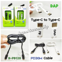 DAP D-PD120 Kabel Data Type-C to Type-C PD30W Cable 1.2m QC3.0 3A Fast
