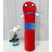 Boneka Bantal Guling Spiderman Size 60cm/guling superhero