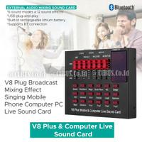 Soundcard V8+ Plus Mixer Audio USB External Plus Bluetooth
