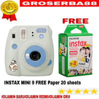 fujifilm instax mini 9 star wars edition + isi paper 20 sheets PAKET