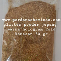 glitter / bubuk gliter / serbuk glitter powder scarlet red 50 GR JPN - hologram gold
