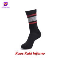 Kaos Kaki Motif Fashion Footstep Footwear - Inferno Socks