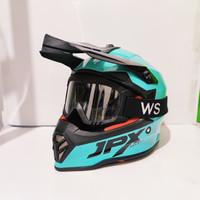Helm Anak JPX Cross Kids Fox 1 Tosca plus Goggle Osbe WS