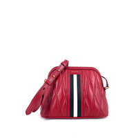 Bally Dalmah Quilted Crossbody Minibag In Red