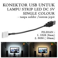 Konektor Jepit USB DC 5V for Lampu Strip LED Single Colour - 3528