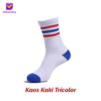 Kaos Kaki Motif Fashion Footstep Footwear - Tricolor Socks