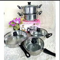 Panci Set 5 in 1 Chef Queen Cooking Pot Set 5in1 Korean Master Rebus D