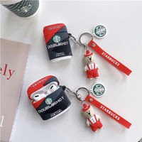 Airpods 1 2 3 PRO / Inpods 12 Starbucks Coffee Key Chain Soft Silicon