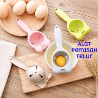 Alat Pemisah Kuning Putih Telur Sendok Saringan Egg Yolk Separator