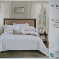 Sprei+Bedcover Tencel Silk/King Koil Sutra King Size Putih 180x200x30