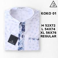 BAJU KOKO KATUN KASMIR REGULER LENGAN PENDEK 01 - M