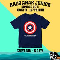 KAOS ANAK TANGGUNG JUNIOR SD SMP marvel superhero captain america - 9-10 tahun