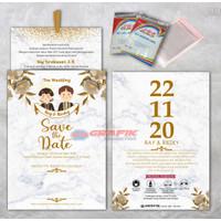 Undangan Pernikahan Single Hard Cover SHC GRAP 04, min 50 pcs
