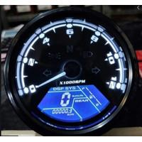 Speedometer Babon Digital Custom Universal Caferacer Scrambler Bober