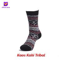 Kaos Kaki Motif Fashion Footstep Footwear - Tribal Socks