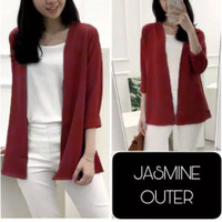JASMINE OUTER MOSCREPE CASUAL - Merah, XL
