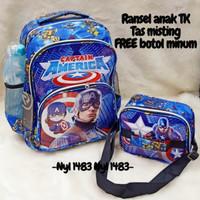 Tas Anak Laki Laki Paud TK Tas Backpack Captain Amerika