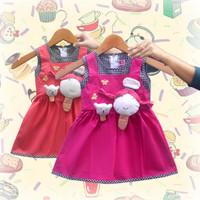 Two Mix Dress Bayi cewek / Baju Bayi cewek / Pakaian Bayi Cewek 2980 - Salem, M