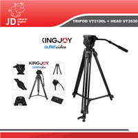 TRIPOD VIDEO KINGJOY VT-2100L + VT-3530