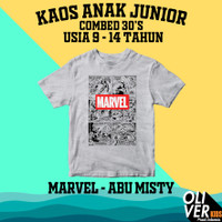 KAOS ANAK TANGGUNG JUNIOR SD SMP karakter superhero marvel disney - 9-10 tahun