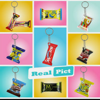 gantungan kunci snack miniatur