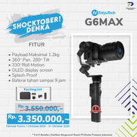 FeiyuTech G6 Max 3-Axis USB/Wi-Fi Control Stabilized Handheld Gimbal