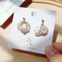 anting bunga daisy fairy daisy pearl earrings jan213