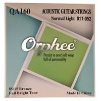 1 Set Senar Gitar Orphee Akustik / Acoustic QA160 Original Size 11