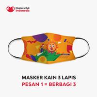 Masker Kain 3 Lapis (3 Ply) Earloop - Desain oleh Heimlo
