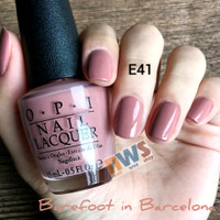 OPI Lacquer (Nail Polish) Barefoot in Barcelona / OPI E41 / Nude Color