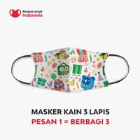 Masker Kain 3 Lapis (3 Ply) Earloop - Tokopedia 11th Anniversary