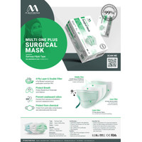Masker Earloop&Hijab 4Ply Multi One Plus Surgical Face StandarKEMENKES - Earloop